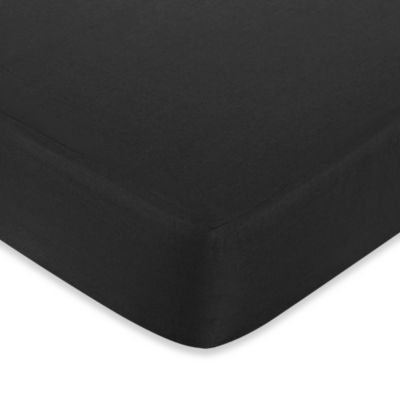 Sweet Jojo Designs Hotel Fitted Crib Sheet in Black