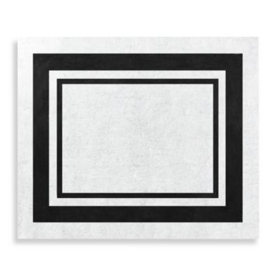 Sweet Jojo Designs Hotel Accent Floor Rug in White/Black