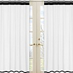 Sweet Jojo Designs Hotel Window Panels in White/Black (Set of 2)
