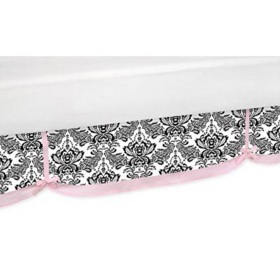 Pink Black Bed Skirt