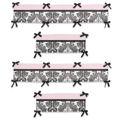 Sweet Jojo Designs Sophia 4-Piece Crib Bumper Set