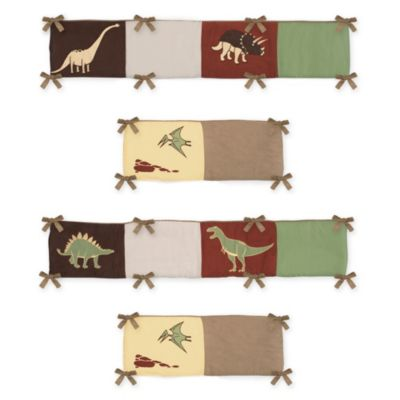 Sweet Jojo Designs Dinosaur Land 4-Piece Crib Bumper