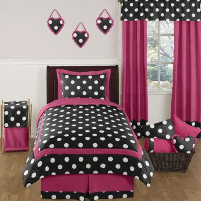 Sweet Jojo Designs Hot Dot 4-Piece Twin Comforter Set