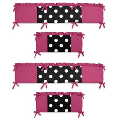 Sweet Jojo Designs Hot Dot Collection Crib Bumper