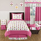Sweet Jojo Designs Happy Owl Pillow Sham in Pink