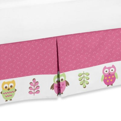 Sweet Jojo Designs Happy Owl Queen Bed Skirt