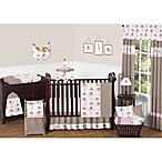 Sweet Jojo Designs Mod Elephant Crib Bedding Collection in Pink/Taupe