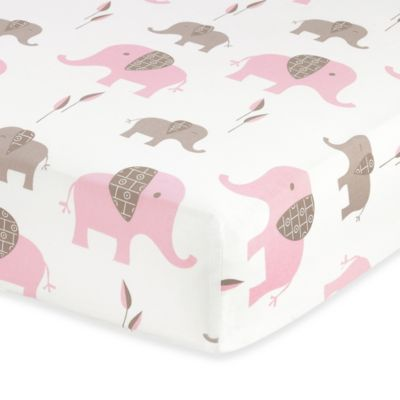 Sweet Jojo Designs Mod Elephant Fitted Crib Sheet