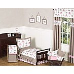 Sweet Jojo Designs Mod Elephant 5-Piece Toddler Bedding Set in Pink/Taupe