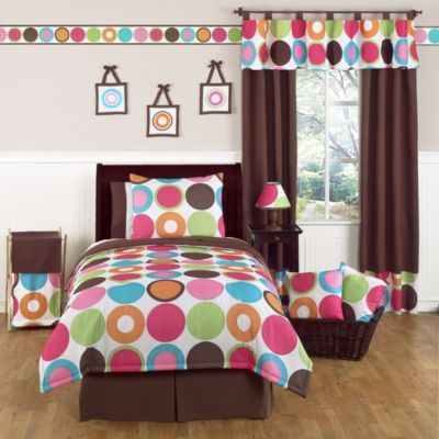 Sweet Jojo Designs Deco Dot 3-Piece Full/Queen Bedding Set
