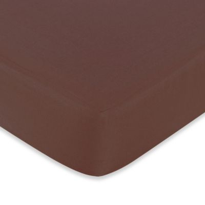 Sweet Jojo Designs Deco Dot Fitted Crib Sheet in Chocolate Brown