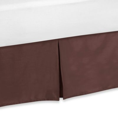 Buy chocolate brown bed skirt from bed bath beyond - Deco babybed ...