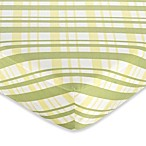 Sweet Jojo Designs Leap Frog Fitted Crib Sheet in Plaid
