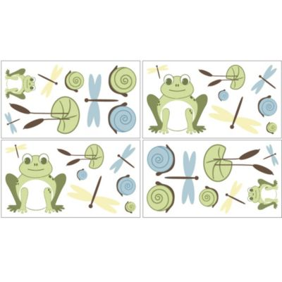 Sweet Jojo Designs Leap Frog Wall Decal Stickers