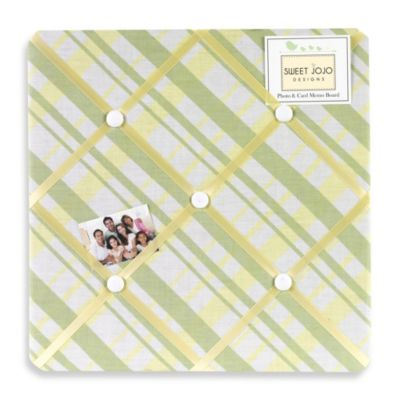 Sweet Jojo Designs Leap Frog Collection Fabric Memo Board