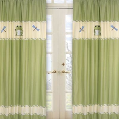Sweet Jojo Designs Leap Frog Window Curtain Panel Set
