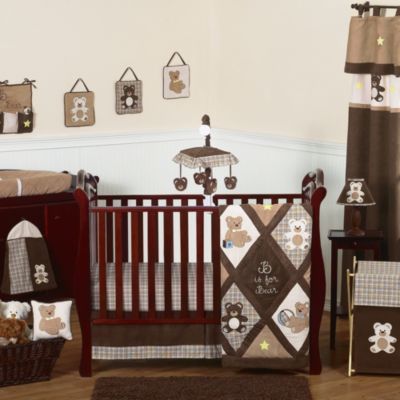 Sweet Jojo Designs Teddy Bear Chocolate 11-piece Crib Bedding Set