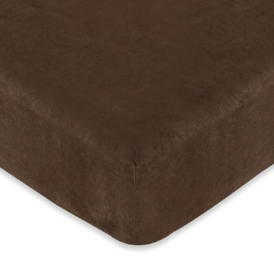 Sweet Jojo Designs Teddy Bear Chocolate Fitted Crib Sheet in Chocolate