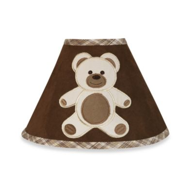 Sweet Jojo Designs Teddy Bear Lamp Shade in Chocolate