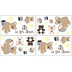 Sweet Jojo Designs Teddy Bear Chocolate Wall Decals (Set of 4)