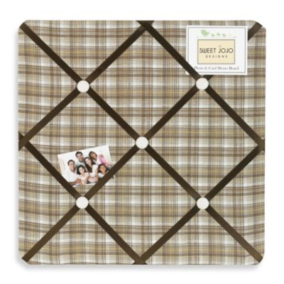 Sweet Jojo Designs Teddy Bear Chocolate Fabric Memo Board