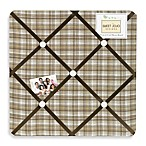 Sweet Jojo Designs Teddy Bear Fabric Memo Board in Chocolate