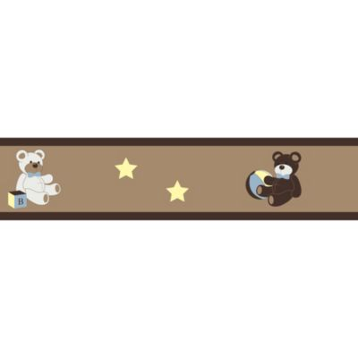 Sweet Jojo Designs Teddy Bear Wallpaper Border in Chocolate