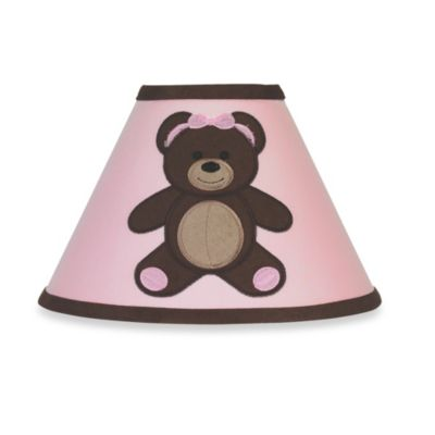 Sweet Jojo Designs Teddy Bear Lamp Shade in Pink/Chocolate