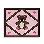Sweet Jojo Designs Pink and Chocolate Teddy Bear 36-Inch x 30-Inch Accent Rug