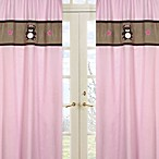 Sweet Jojo Designs Teddy Bear Window Panel Pair in Pink/Chocolate