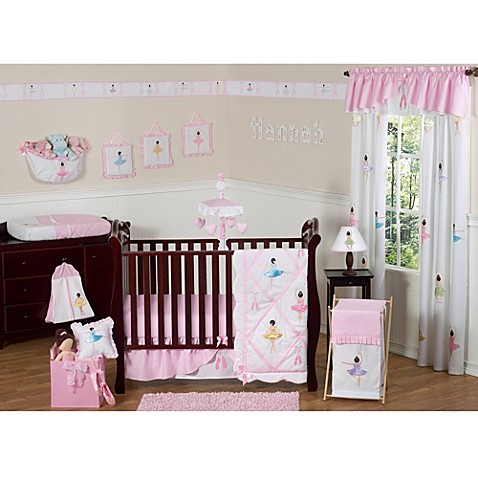 Buy sweet jojo designs ballerina 11 piece crib bedding set from bed