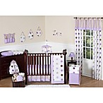 Sweet Jojo Designs Mod Dots Collection 11-Piece Crib Bedding Set in Purple/Chocolate