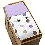 Sweet Jojo Designs Mod Dots Collection Chaging Pad Cover in Purple/Chocolate