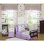 Sweet Jojo Designs Mod Dots Collection Toddler Bedding Collection in Purple/Chocolate