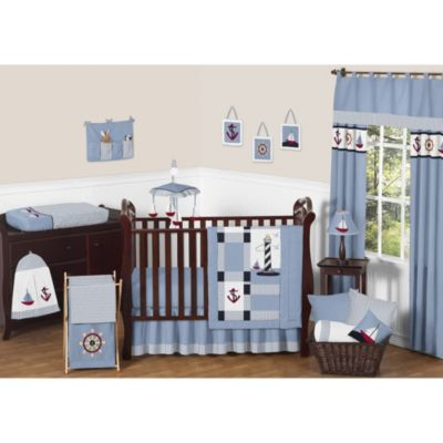 Sweet Jojo Designs Come Sail Away 11-Piece Crib Bedding Set