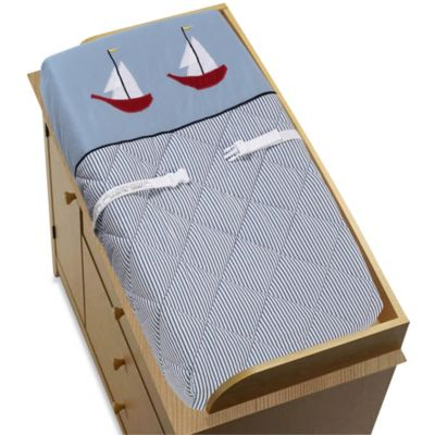 Sweet Jojo Designs Come Sail Away Changing Pad Cover