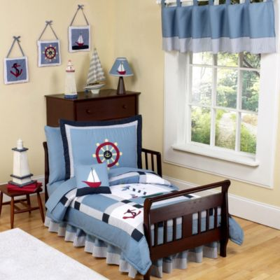 Sweet Jojo Designs Come Sail Away 5-Piece Toddler Bedding Set