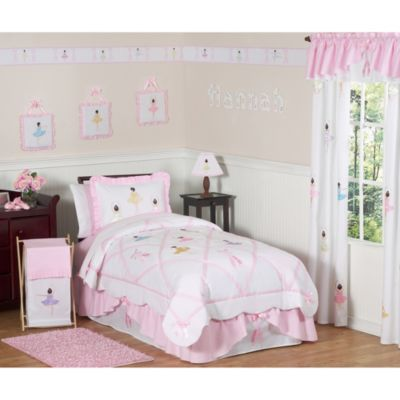 Sweet Jojo Designs Ballerina Twin Bedding Set