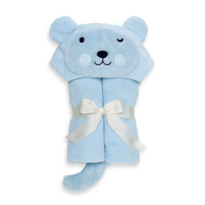 Elegant Baby® Bear Bath Wrap in Pastel Blue
