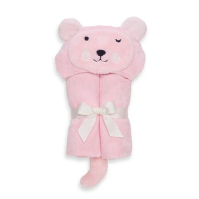 Elegant Baby® Bear Bath Wrap in Pastel Pink