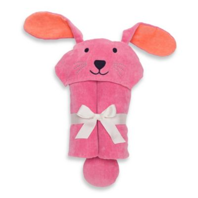 Elegant Baby® Bunny Bath Wrap in Raspberry