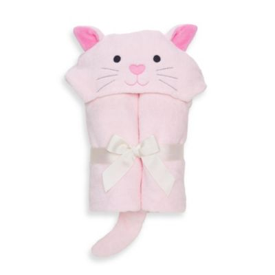 Elegant Baby® Kitty Bath Wrap in Pastel Pink