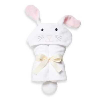 Elegant Baby® Bunny Bath Wrap in White