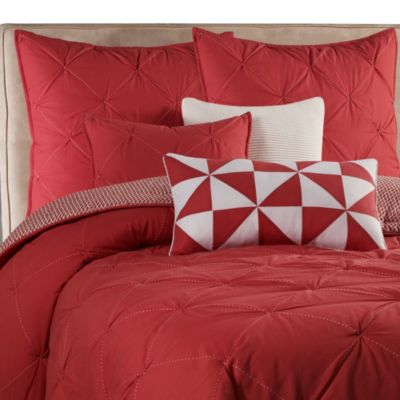 Nautica® Lawndale Coverlet Standard Pillow Sham in Coral