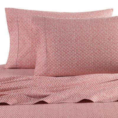 Nautica® Lawndale Queen Sheet Set in Coral