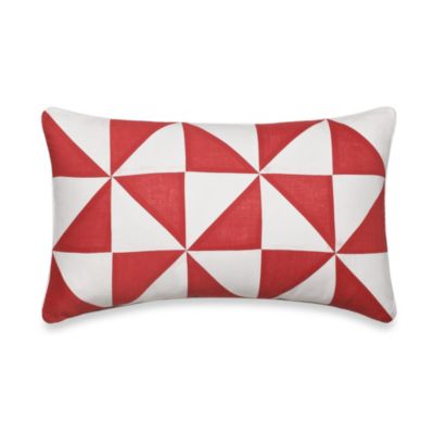 Nautica® Lawndale Boudoir Oblong Throw Pillow in Coral