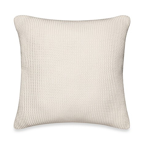 Nautica Lawndale Knit Square Throw Pillow in Ivory - Bed Bath & Beyond