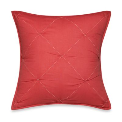 Nautica® Lawndale Square Throw Pillow in Coral