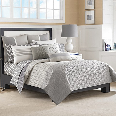 Nautica® Margate Coverlet in Grey