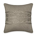 Nautica® Margate Knit Square Toss Pillow in Grey